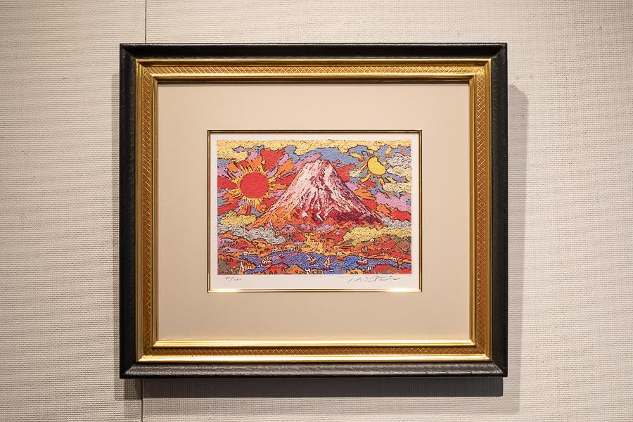 日月湖上赤富士